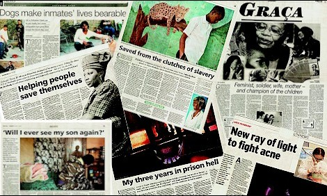 Front Cover feature articles for tabloids and magazines.Lana has contributed to almost every English magazine and newspaper in South Africa, often achieving cover and front-page exposure.
