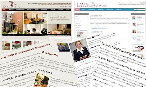 New Media Writing Web Pages Blogs News Articles.Lana writes compelling copy for all business types - from the ANC to Transnet and Law For Women to Domba Executive Suites Accommodation.