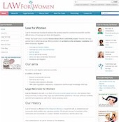 Visit the Law for Women website