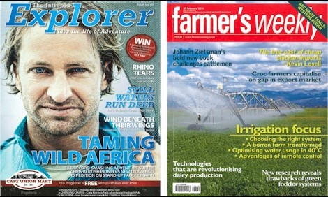 Topical Feature ArticlesLana writes topical feature articles for popular magazines Intrepid Explorer and Farmers Weekly